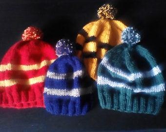 Hogwarts House Hats-Various sizes