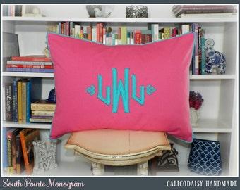 The South Pointe Applique Monogrammed Pillow Sham - Standard 20 x 26