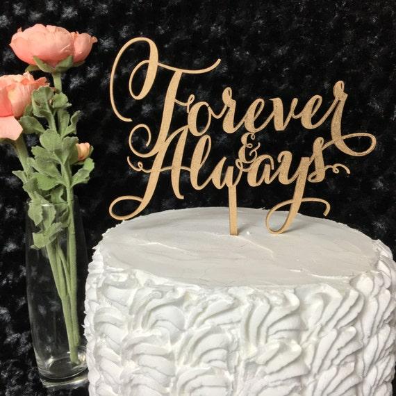 Anniversary Cake Topper, Forever & Always Cake Topper, Always and Forever Cake, Forever Cake Topper, Always Cake Topper, Glitter Cake Topper