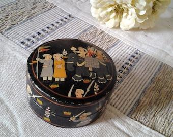 25% off Vintage Indian Kashmiri Paper Mache Trinket Box