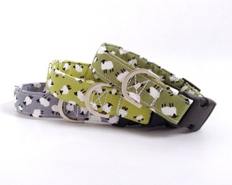 Sheep Dog Collar | Dog Collars | Green Dog Collar | Puppy Collar | Boy Dog Collar | Farm Dog Collar | Male Dog Collar | Girl Dog Collar