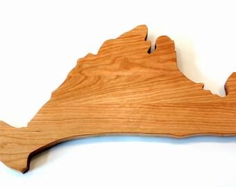 Martha's Vineyard Custom Cutting Board,  Chopping Block, Custom Cheese Board, Wood Cutting Board Couple Cutting Board, Housewarming Gift