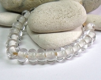 Clear, Artisan Lampwork Glass Beads, SRA, UK