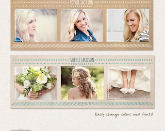Set of Facebook timeline covers templates with Aztec tribal geometric motifs FC013