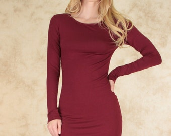 Baby bodycon long sleeve dress