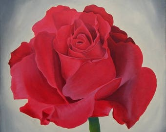 Red Rose. Print from Original Acrylic Painting