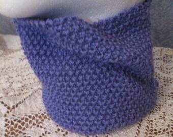 Textured Neck Warmer in Purple Merino/Cashmere