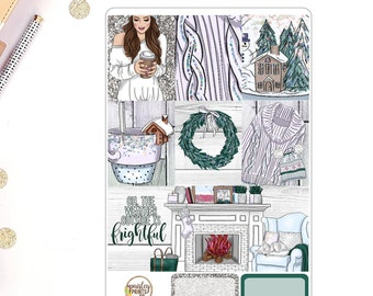 Neutral Winter Weekly Kit for use in Erin Condren