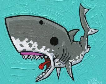 The Lesser White Shark Archival Print