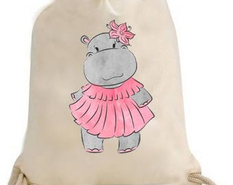Back to school, gym, pool, gym bag / Duffel hippo