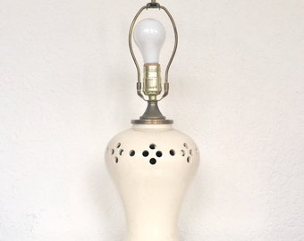 White Pierced Lamp