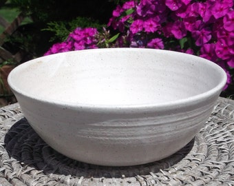 Pottery Bowl in White - Handmade Pottery