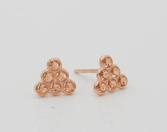 Rose Gold Triangle Earrings