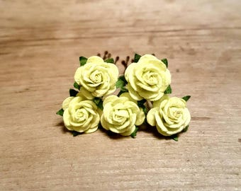 Light Green Rose Hairpin, Wedding Hair Piece, Gift for Her, Flower Hair Pins, Christmas Gift, Hair Accessory