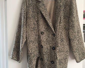 Vintage leopard print blazer size 12