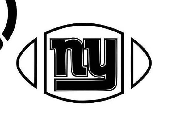 New York Giants decal, football decal, New York decals, Giants decals, sports decals, cup decals Football, Giants football decals,