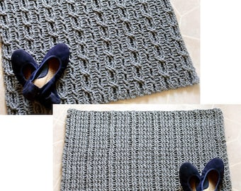 Reversible Cable Rug - PDF Crochet Pattern - Instant Download