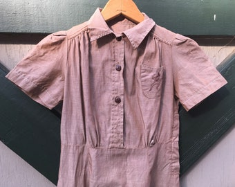 1940s Brownie Uniform Dress Girl Scouts XS