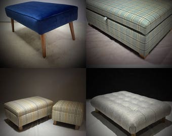 Bespoke footstools and ottomans