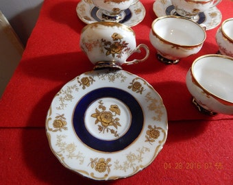 TG original kobalt Made in Germany Teacups and saucers
