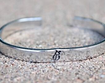 Ladybug Bracelet, Lady Bug Bangle, LadyBug Cuff, LadyBug Jewelry, Ladybug Bracelets, Ladybug Bangles, Ladybug Inspiration, Lady Bug Cuffs