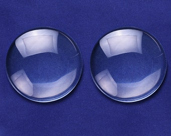 10PCS 45MM Round Flat Back clear Crystal glass Cabochon 10MM Thick 10148950