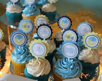 Moon and Stars Cupcake Toppers