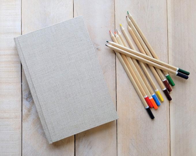 Linen Sketchbook in Natural Linen