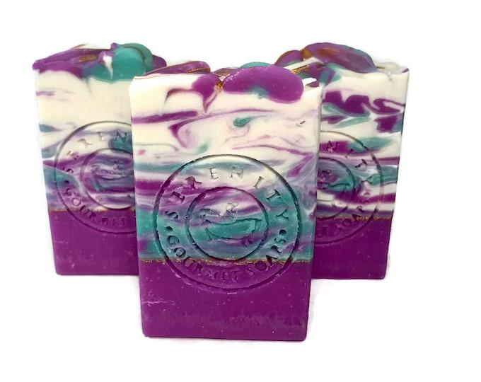 Lavender Orchids Vegan Handmade Soap Bar
