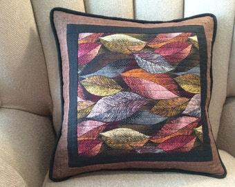 Colorful Fall Leaves Pillow Cover