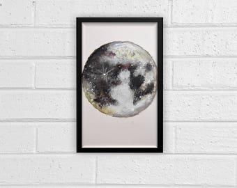 Planet Watercolor Print