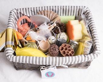 Large Baby Sensory Treasure Basket