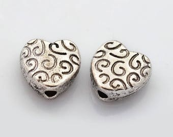 10 antique silver Tibetan style beads