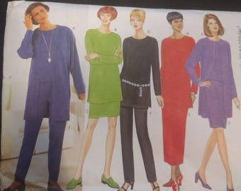 Butterick 4785 Misses Separates Pattern For Stretch Knits Only (Skirt, Tunic, Pants, & Jacket) XS-M, Butterick pattern, Vintage pattern