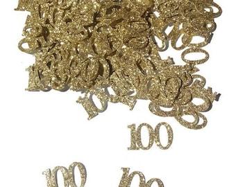 100th birthday confetti , 100th birthday decorations , table confetti