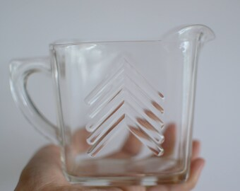 Vintage Chevron Glass Pitcher