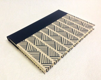 Handmade Journal with Geometric Weave Pattern