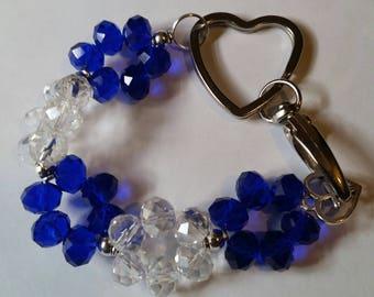 Religious Christian Jewelry Cross Heart keychain Religious Jewelry Christian Bling KRBL01