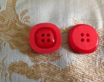 Set of four square shape buttons