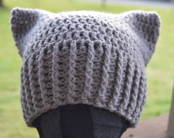 Crochet Cat Ear Hat - Made to Order