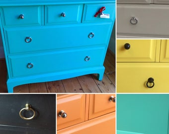 Finished to order - In any colour - Upcycled spray painted Vintage Stag Dresser