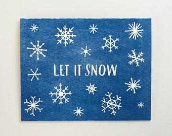 Let it Snow Letterpress Card