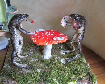 taxidermy frog Player cards taxidermy frog curiosity oditties