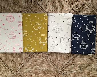 Japanese Kokka Star Sign Journey fabric bundle (4 fabrics).100% Cotton Canvas.