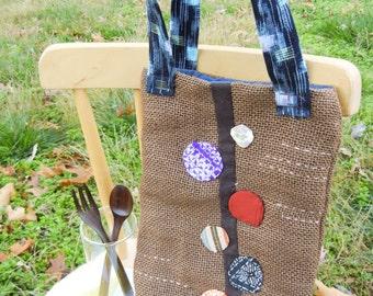 Mini Tote bag - Circle Flowers