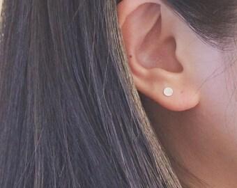 Dot Earring, Sterling Silver Dot Earrings, Post Earrings, Stud Earrings, Tiny Sterling Silver Dot Circle Earrings, Everyday Wear