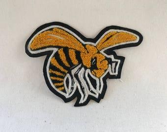 "Hornet Chenille Patch 7""x5"" - Varsity Letterman Patch"