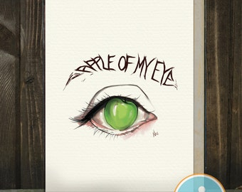 Apple of my Eye: A card of love / Mom / Dad / Parent