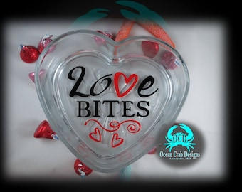 Heart Shaped Glass Candy/Potpourri Dish