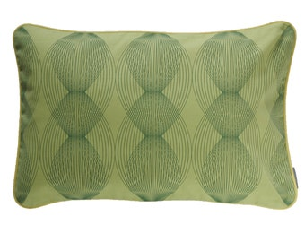 Pillow cover graphic lines, green/Graublau, 60 x 40 cm (without filling)